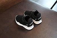 Кроссовки детские черные на липучке размеры 24-26р код: 881