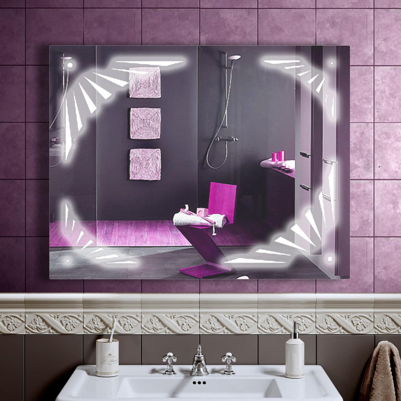 LED дзеркало у ванну зі світлодіодним підсвічуванням DV 7544 900х700 мм.
