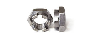 Гайка корончатая нержавеющая М8 DIN 937, ГОСТ 5919-73, фото 2