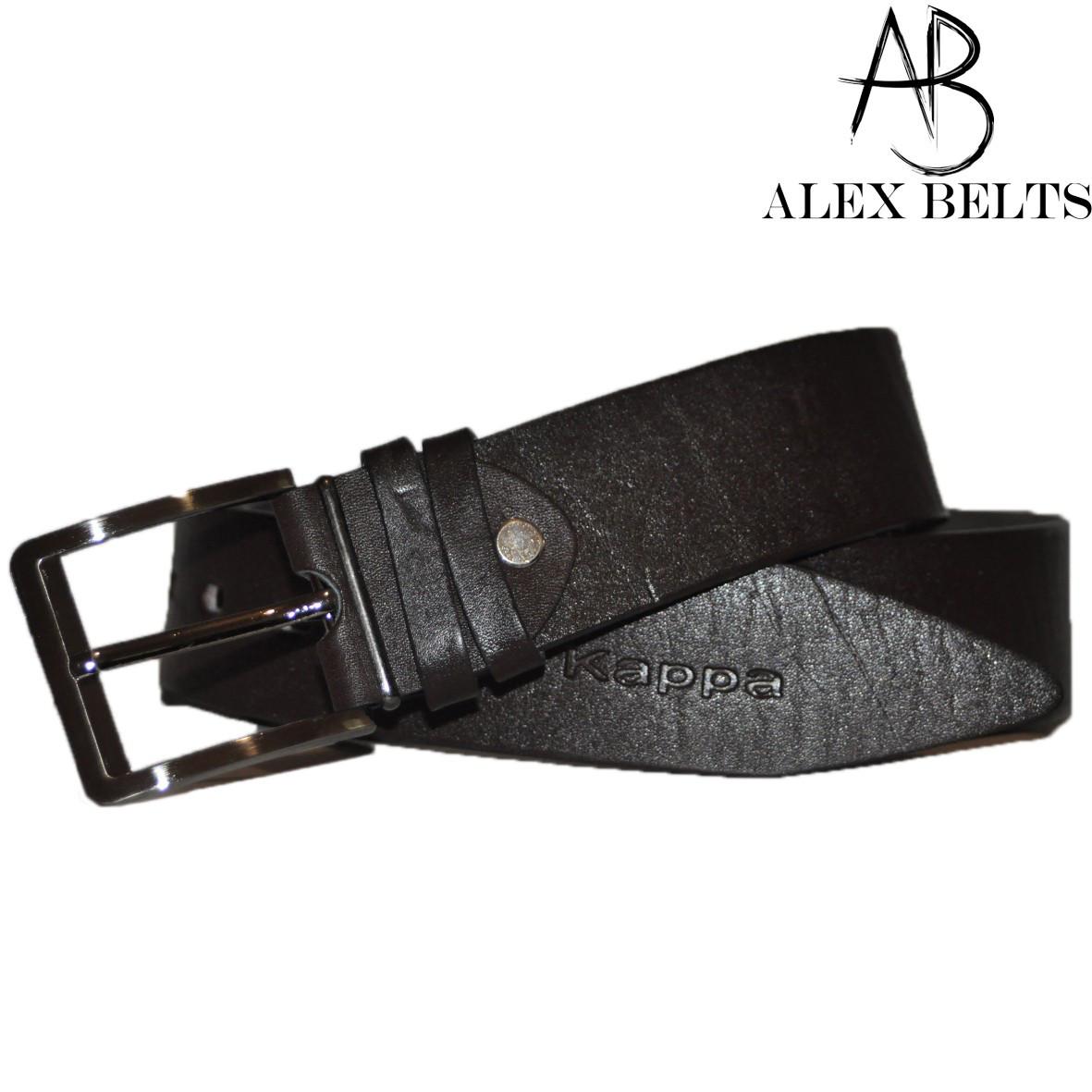 Ремень мужской джинсовый (шоколад) кожа 45 мм - купить оптом в Одессе