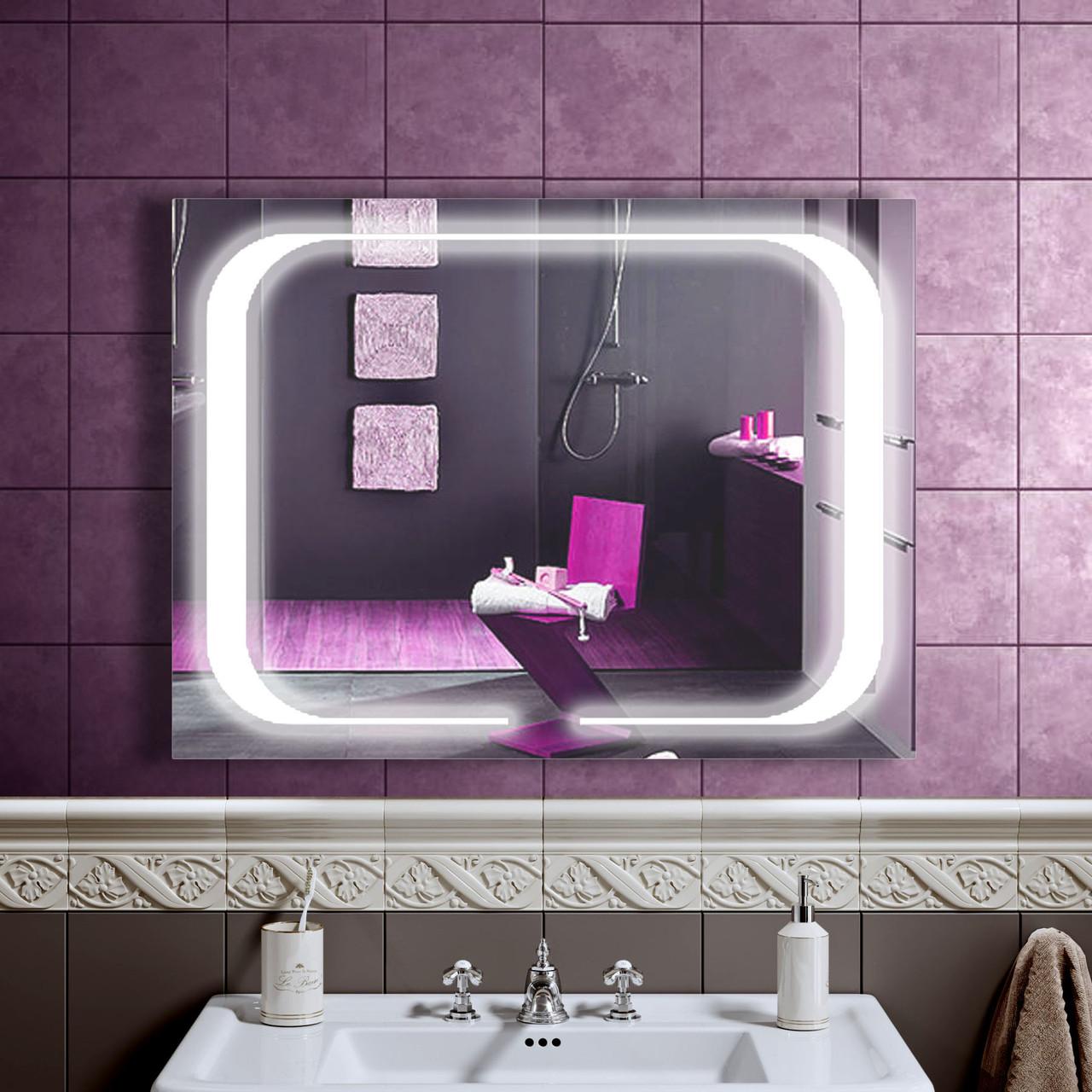 LED дзеркало зі світлодіодним підсвічуванням DV 7546 800х600 мм. дзеркало