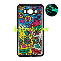 Чехол Remax Night Series for Samsung J250 (J2-2018) Black (Colorful Skull)