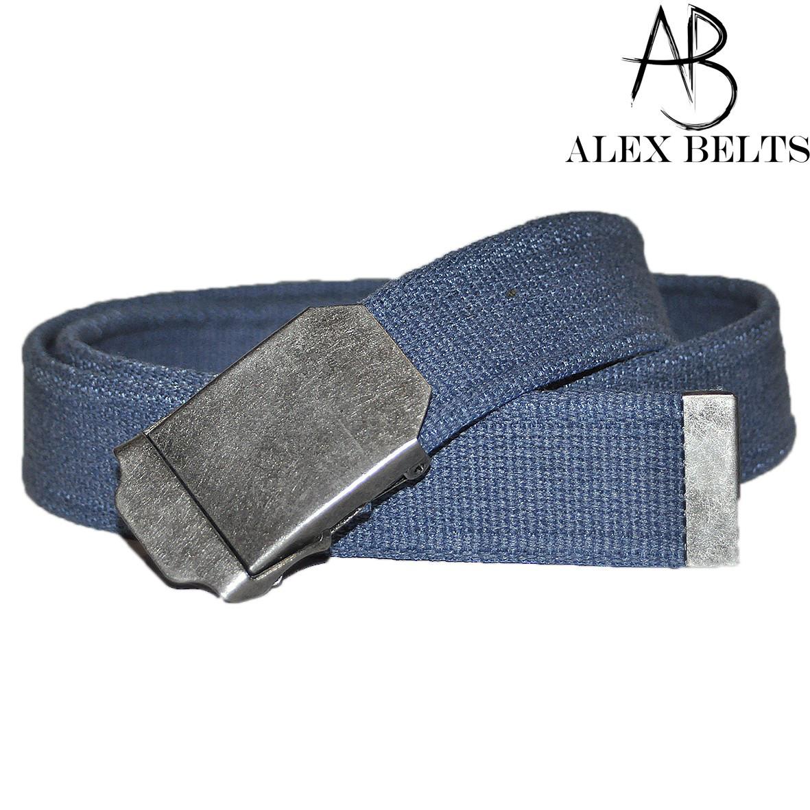 Ремень мужской джинсовый тканевый (джинс) 40 мм-купить оптом в Одессе