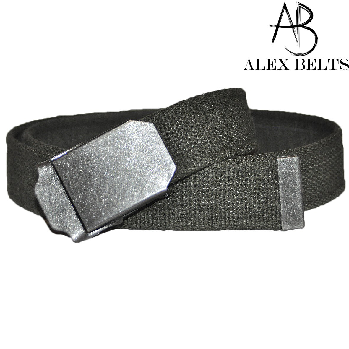 Ремень мужской джинсовый тканевый (серый-графит) 40 мм-купить оптом в Одессе