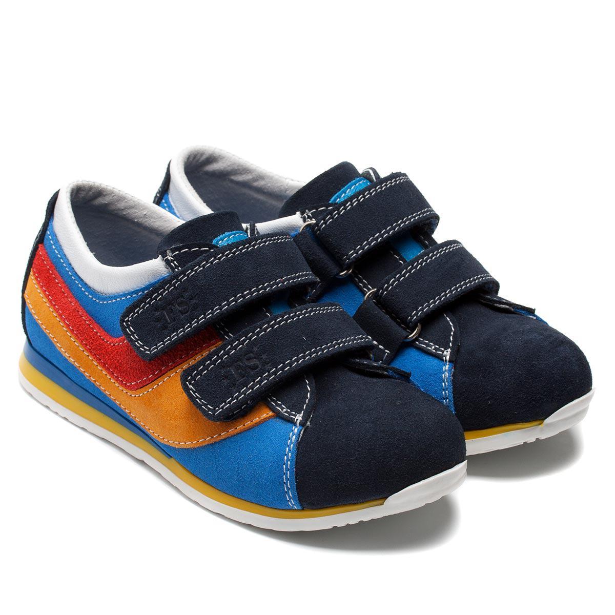 Кожаные детские кроссовки FS Сollection, на двух липучках, размер 27