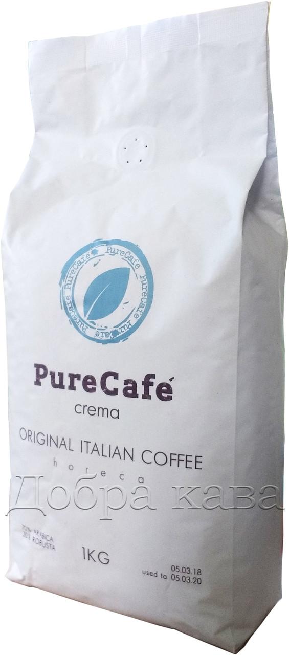 Кава в зернах PureCafe Crema (70% Арабіка) 1 кг.