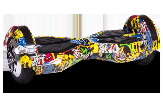 """Гироборд Ховерборд граффити Smart Balance 8"""" Tao-Tao App и самобалансом"""