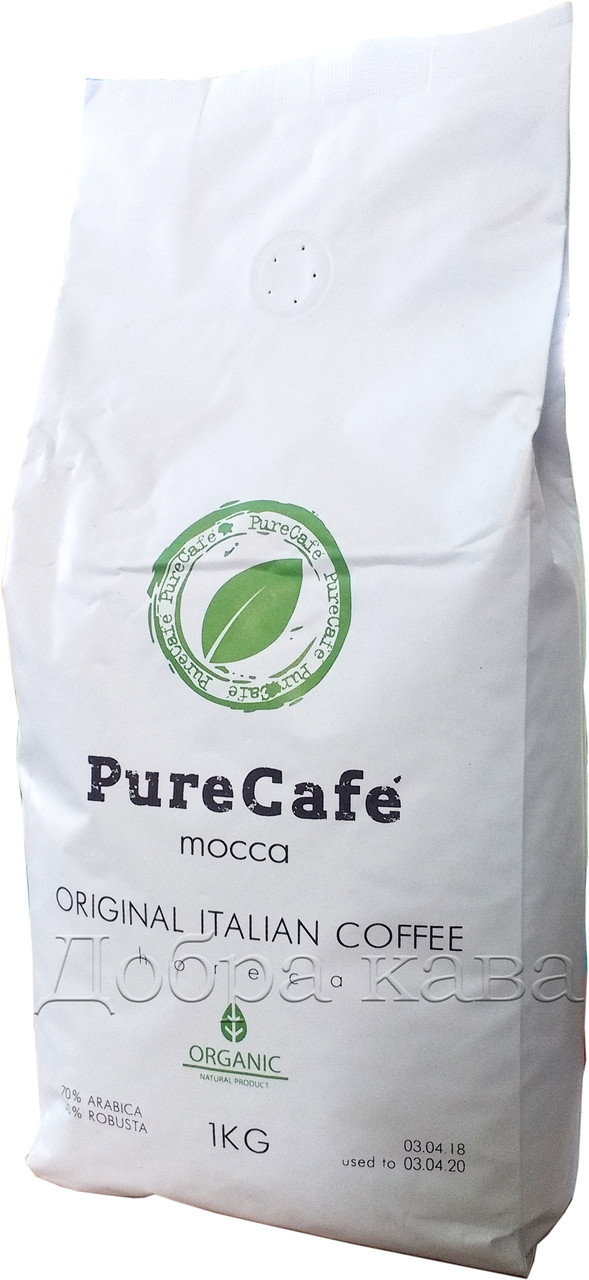 Кофе в зернах PureCafe Mocca (70% Арабика) 1 кг.