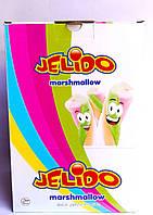 Jelido marshmallow маршмэллоу зефир разноцветный в стиках 48 штук Турция
