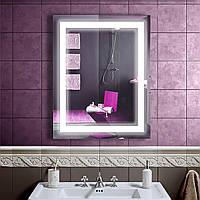 LED зеркало в ванную со светодиодной подсветкой DV 7554 533х683 мм.