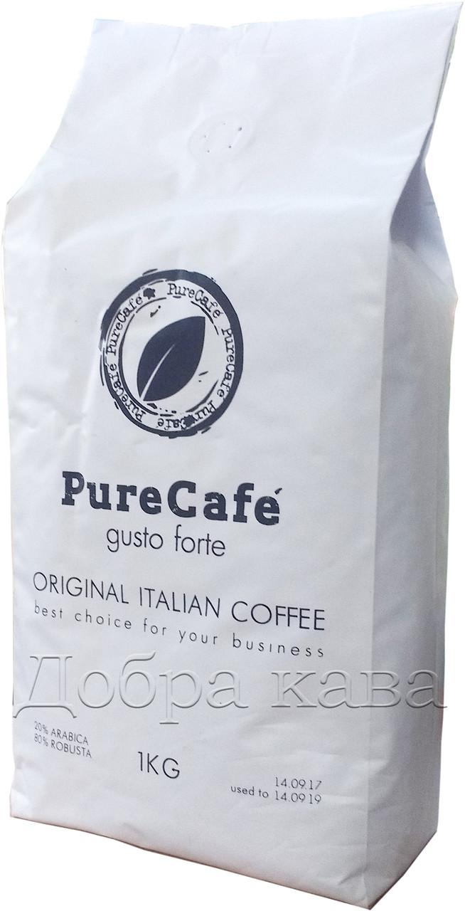 Кофе в зернах PureCafe Gusto Forte (20% Арабика) 1 кг.