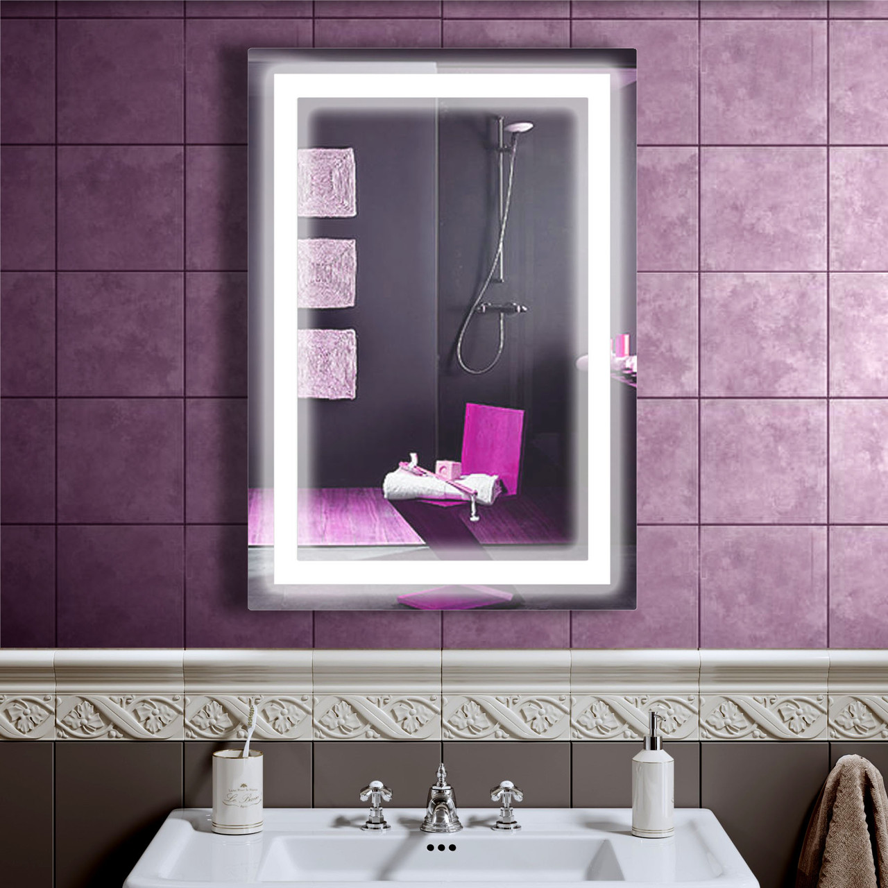 LED дзеркало зі світлодіодним підсвічуванням DV 7556 550х800 мм. дзеркало