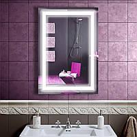 LED зеркало со светодиодной подсветкой DV 7556 550х800 мм. дзеркало