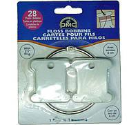 Набор 28 пластиковых бобин + кольцо держатель DMC 6105/12, фото 1