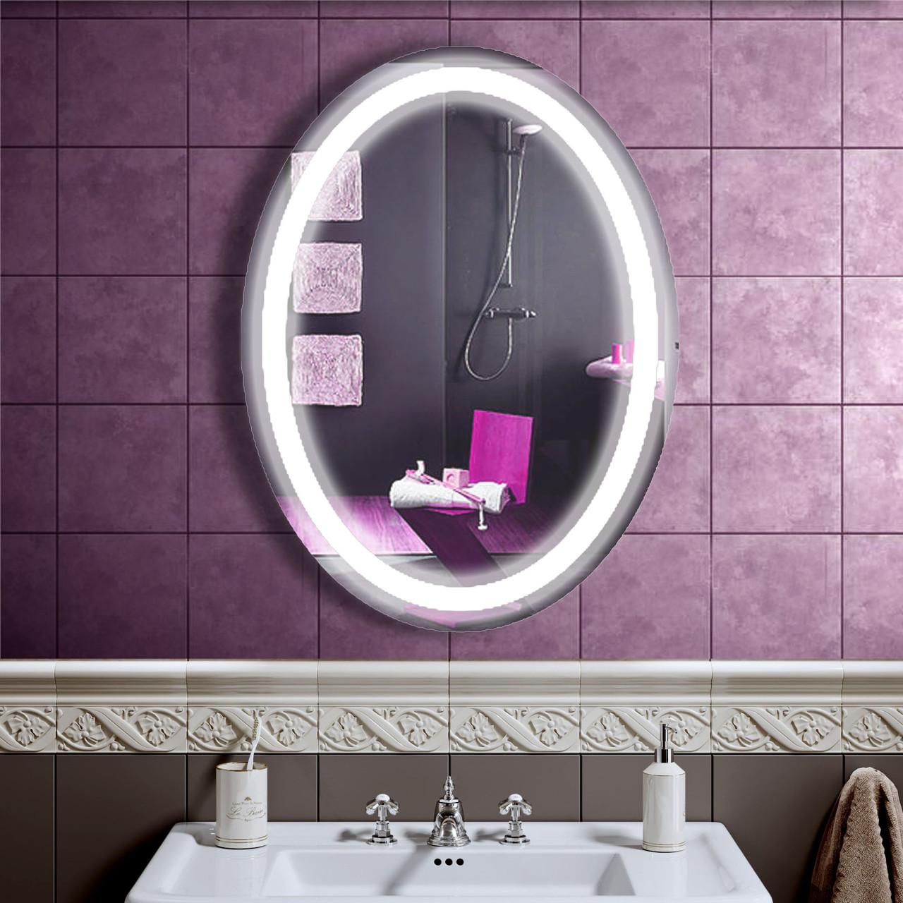 LED зеркало в ванную со светодиодной подсветкой DV 7557 600х800 мм.