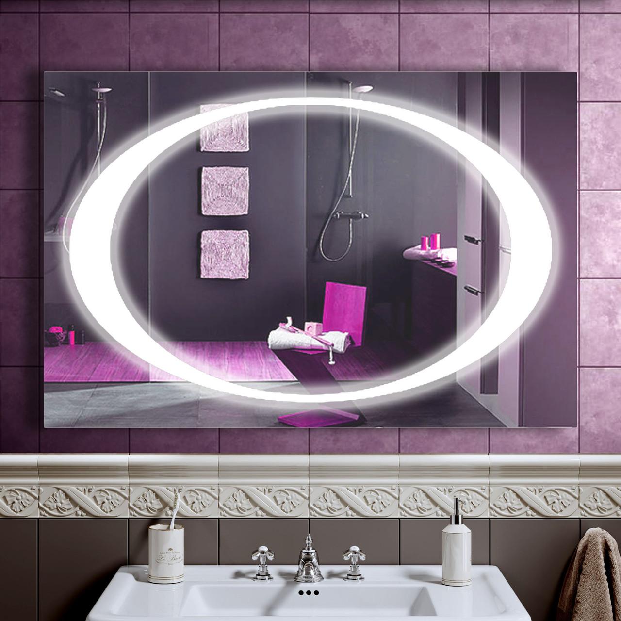 Зеркало LED со светодиодной подсветкой DV 7558 1200х800 мм.