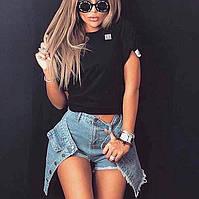 Женские шорты-юбка из джинса , фото 1