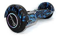 "Ховерборд гироскутер Смартбаланс туман синий 8"" ТАО со светящимся колесами самобаланс"
