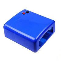 Уф лампа длям маникюра 818 с таймером 120сек, 36 Вт (синяя)