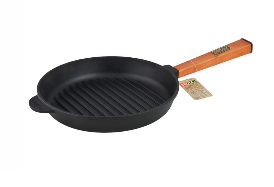 Сковорода гриль Brizoll - Оптима 26см (О2640Г-Р)