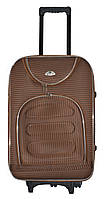 Дорожный чемодан на колесах Bonro Lux Coffee-клетка Большой