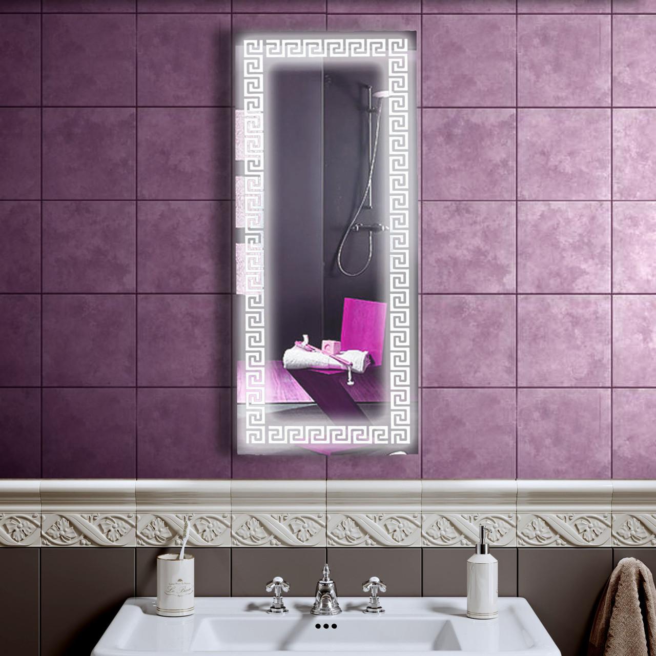 LED дзеркало у ванну зі світлодіодним підсвічуванням DV 7563 500х1200 мм.