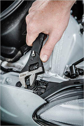 Профессиональный  разводной ключ с трещоткой 200мм NEO 03-017 Киев., фото 2