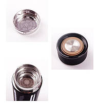 Термос 500мл Free and Easy Білий (горизонтальні смужки) з ситечком, фото 3