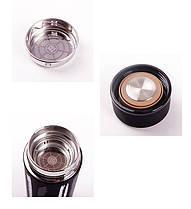 Термос 500мл Free and Easy Черный (горизонтальные полоски) с ситечком, фото 3