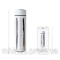 Термос 500мл Free and Easy Чорний (вертикальні смужки) з ситечком, фото 3