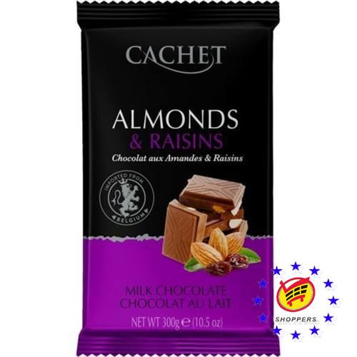 Молочный шоколад Cachet Миндаль и Изюм 300 г