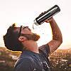 Термос 500мл Free and Easy Черный (вертикальные полоски) с ситечком , фото 6