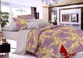 Полуторный комплект постельного белья с узорами, Люкс-сатин