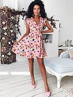 ec6ff34468d Promo Женское летнее платье на запах с рюшами