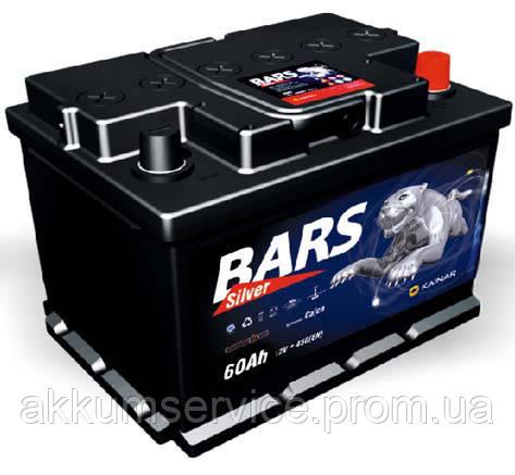 Аккумулятор автомобильный Bars Silver 60AH L+ 530A