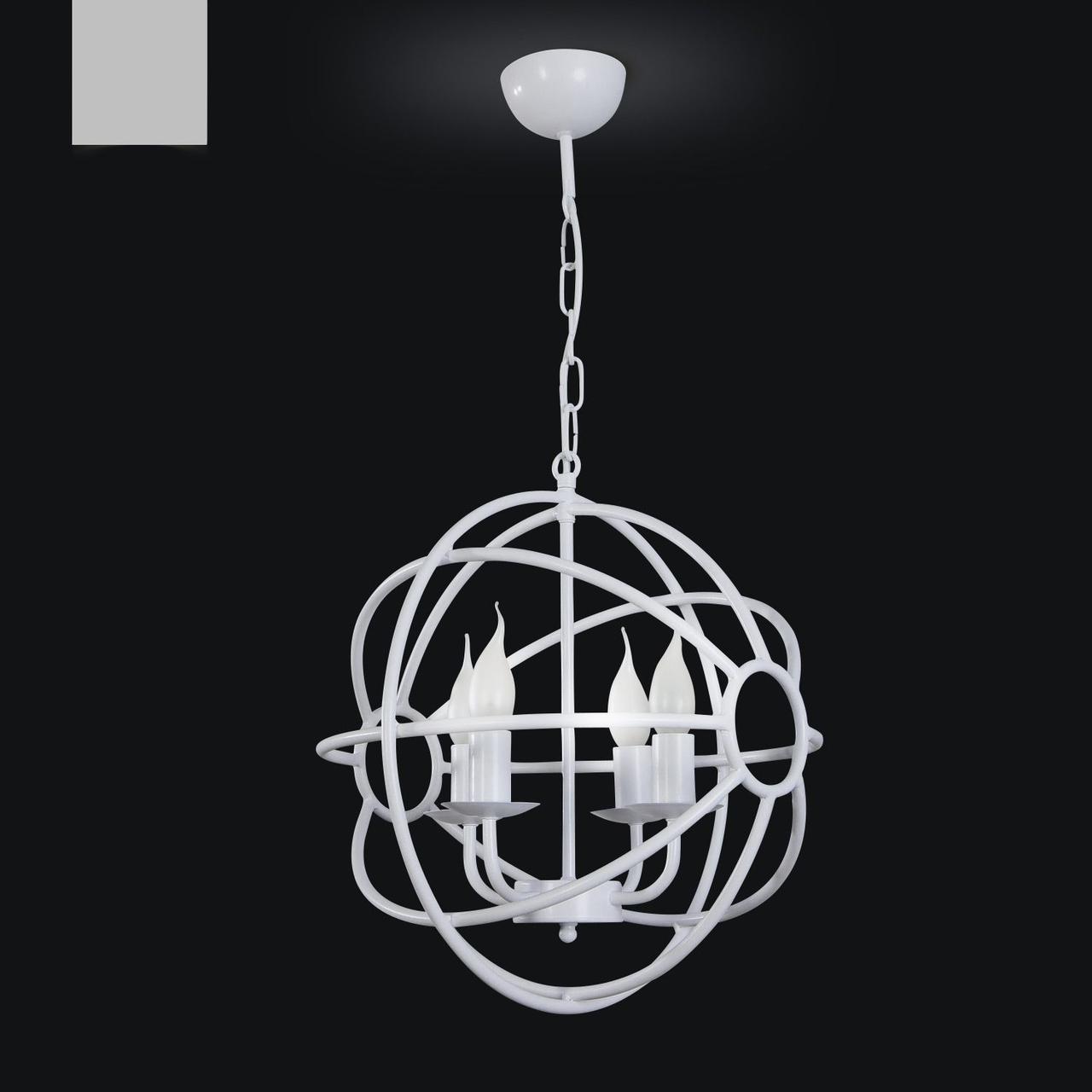 Люстра металлическая для высоких потолков 30606
