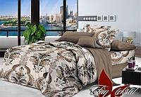 Полуторный комплект постельного белья с узорами, Поплин