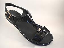 """Большой размер босоножки женские кожаные Butterfly Black Leather by Rosso Avangard BS цвет черный """"Инк"""""""