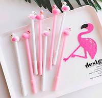 """Ручка детская гелевая №5023 """"Фламинго"""" синяя, фото 1"""