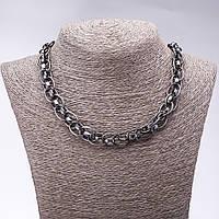 """Ожерелье """"Серебряные цепи"""" L-50-55см хайтек"""