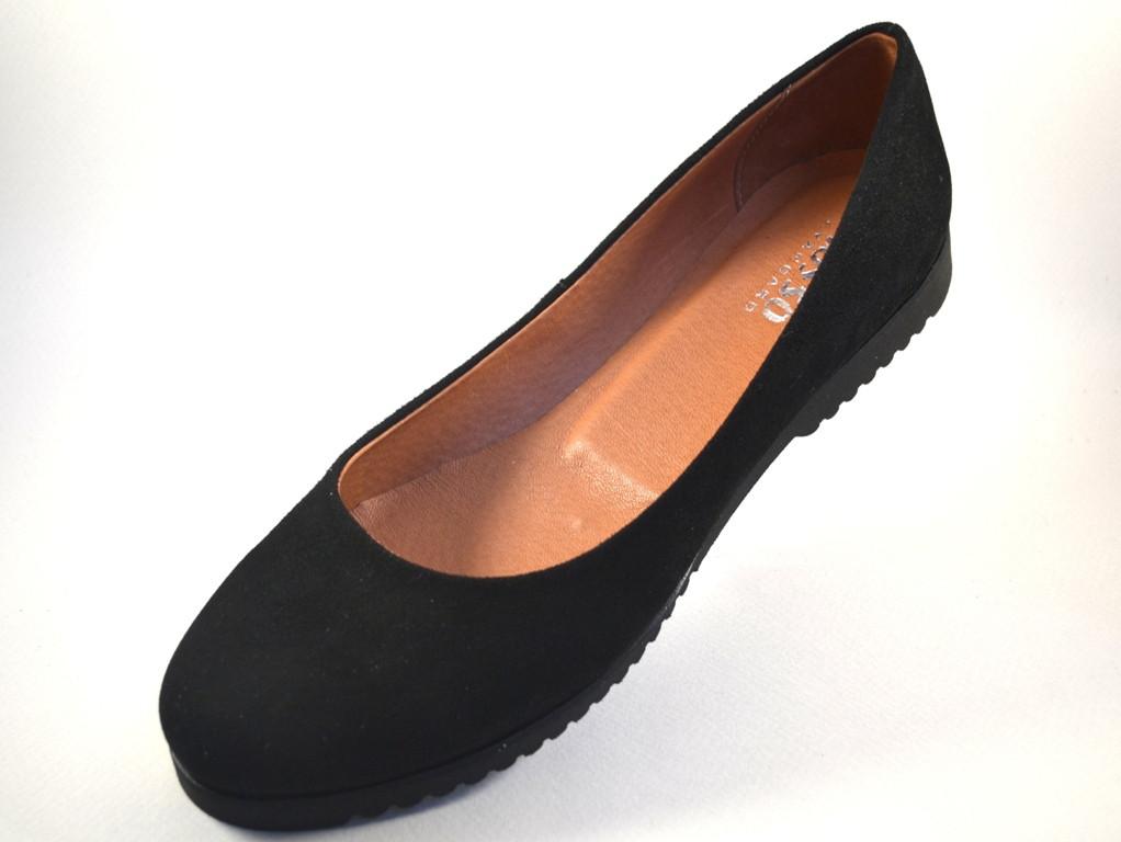 Большой размер балетки женские замшевые Gracia U Black by Rosso Avangard BS цвет черный