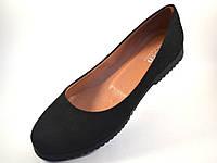 Большой размер балетки женские замшевые Gracia U Black by Rosso Avangard BS цвет черный, фото 1