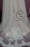 Сукня весільна пудрова з білим, фото 3