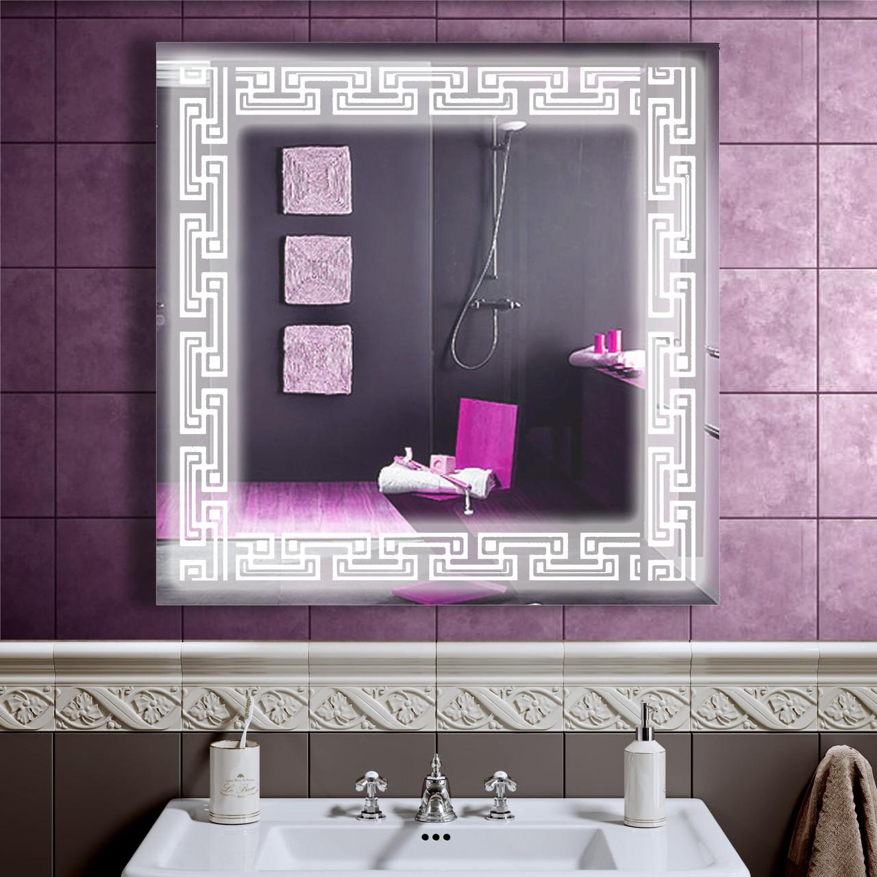 LED дзеркало у ванну зі світлодіодним підсвічуванням DV 7569 800х800 мм