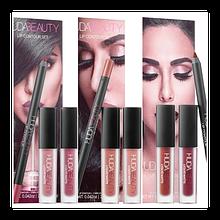 Набор жидких мини-помад Huda Beauty Lip Contour Set 3in1