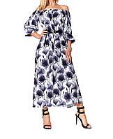 Легкое летнее платье в ярких цветах, фото 1