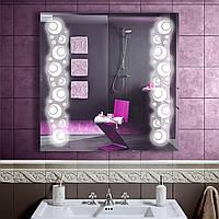 LED зеркало в ванную со светодиодной подсветкой DV 7575 800х800 мм.
