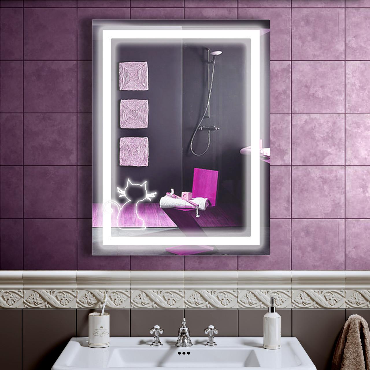 Зеркало LED со светодиодной подсветкой DV 7576 600х800 мм.
