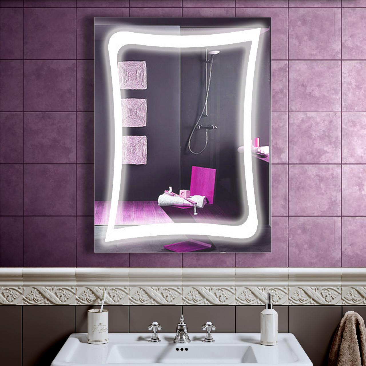 LED дзеркало зі світлодіодним підсвічуванням DV 7577 600х800 мм дзеркало