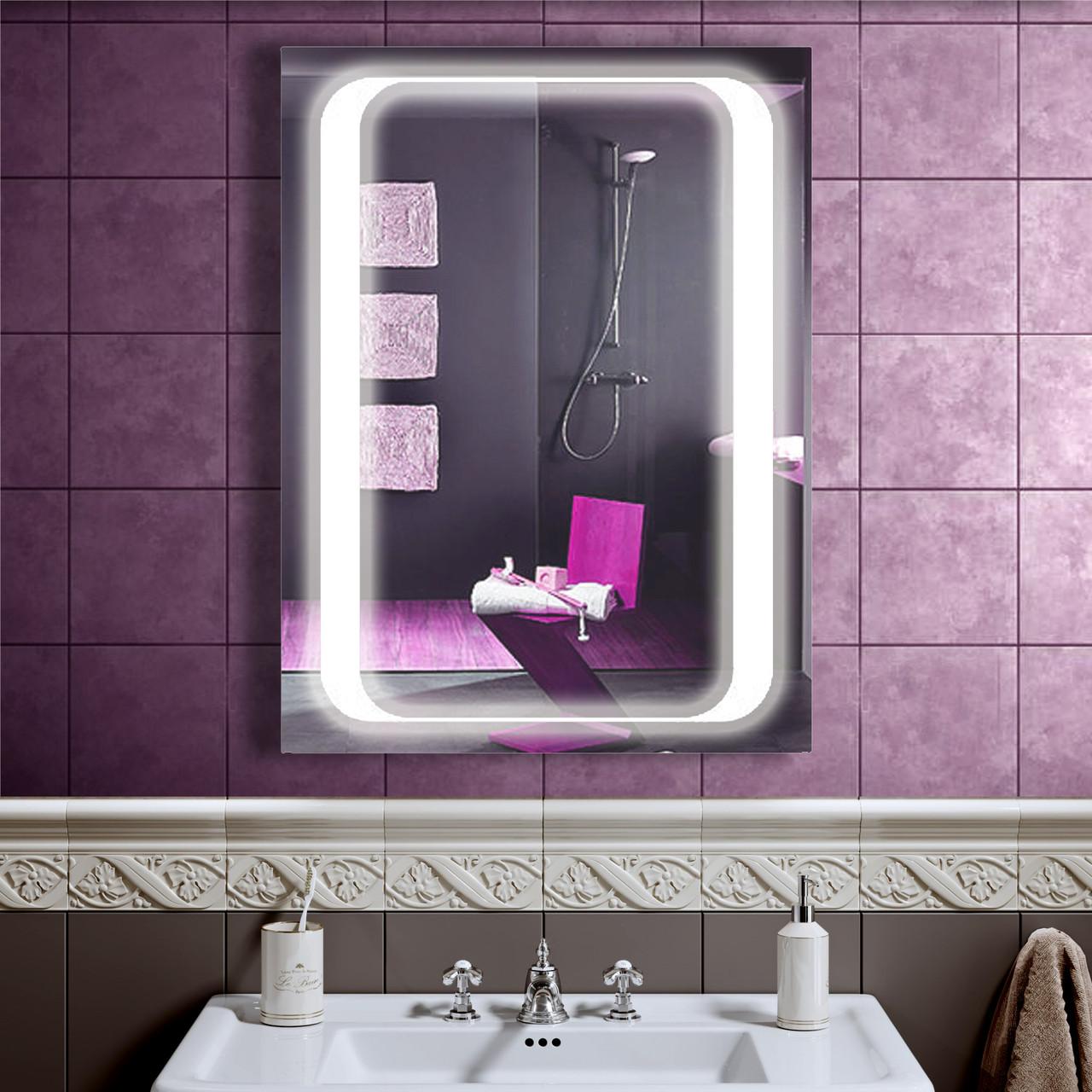 LED дзеркало у ванну зі світлодіодним підсвічуванням DV 7578 600х800 мм